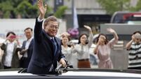 South Korea's new president says he is willing to visit North Korea