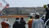 Remains found by South Korean ferry salvage crew