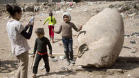 Massive statue of Ramses II unearthed in Egypt