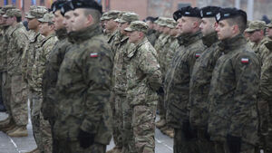 Poland's leaders hold ceremony to welcome US troops as part of NATO build-up