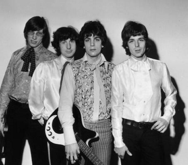 Mason, second from left, in 1967 with the other members of Pink Floyd.