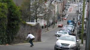 This skateboarder skating down the steepest hill in Cork is seriously impressive