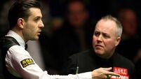 Surprise as John Higgins holds four-frame lead over 'nervy' Mark Selby in opening session