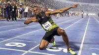 See Usain Bolt win his final race on home soil