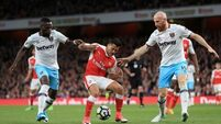 Arsenal win keeps Hammers in relegation trouble