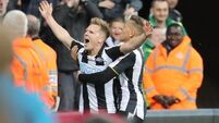 Newcastle edge past Burton to go top despite disallowed penalty