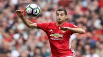 Jose Mourinho pleased for Henrikh Mkhitaryan and with efforts to improve pitch