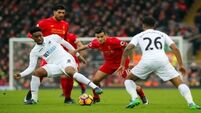 Shock result: Swansea defeat Liverpool at Anfield