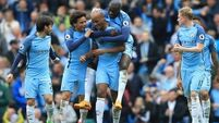 Man City go third after five-goal demolition of Palace