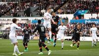 Swansea beat Everton to climb out of drop zone
