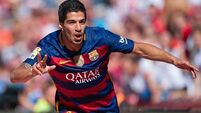 Luis Suarez among three sent off as Barca progress to Copa del Rey final
