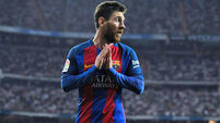 Lionel Messi takes his goal tally above 50 for the season