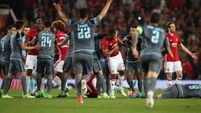 Man Utd win bad-tempered semi-final