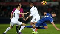 Swansea see off Leicester with 2 nil win