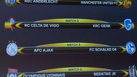 Man Utd paired with Anderlecht in Europa League quarter-finals