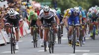 Dan Martin just misses out on stage win at Tour de France