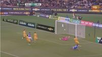See Diego Souza score from the kick-off for Brazil against Australia