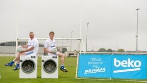 Watch a couple of GAA legends try to kick a ball into a washing machine