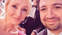 Lin-Manuel Miranda and JK Rowling took a selfie at the BAFTAs and everything is going to be fine