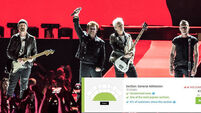 Secondhand sites selling U2 tickets for eye-watering €1,700