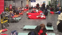 200 stranded passengers slept in Cork Airport last night