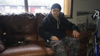 Disabled man living in fear after burglars ransacked his home and set his trousers on fire