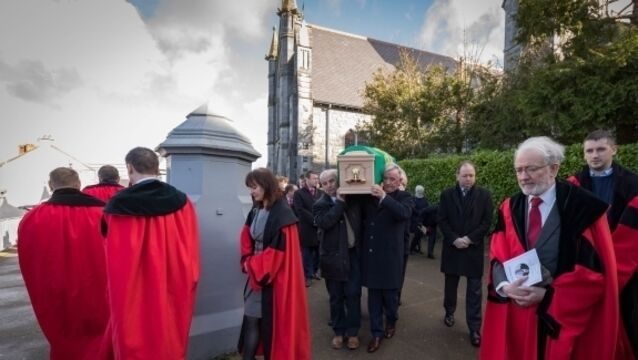 President Higgins among mourners at funeral of former Ceann Comhairle Seamus Pattison