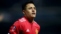 Alexis Sanchez diagnosed with dislocated ankle and tendon damage