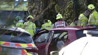 Three in hospital after collision involving two cars and a trailer in Clare