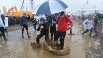 Torrential rain leaves motorists stuck in the mud at National Ploughing Championships