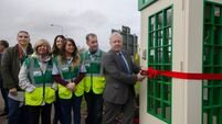 First of four public access defibrillators installed in old-style telephone boxes in Carrigaline