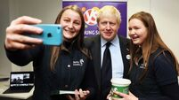 Boris Johnson jokes about Brexit impasse during visit to Trinity College in Dublin