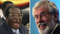Gerry Adams is world's second longest serving party leader after Robert Mugabe