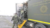 Army carry out controlled explosion of unsafe school science supplies