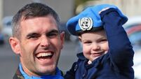 100 members of the Defence Forces arrive home from peace keeping mission