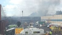 Firefighters expecting to take most of the day to put out blaze at Glasgow fruit market
