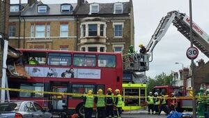Two passengers rescued after 'blacked out' driver crashes double-decker bus into London shop