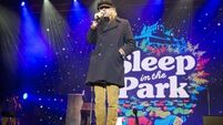 Bob Geldof joins 8,000 at Sleep in the Park to raise funds for Scotland's homeless