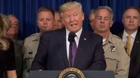 Donald Trump hails 'amazing' Las Vegas shooting victims and doctors