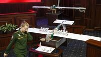 Russia displays drones from Syria attack that they claim were not used by rebels