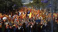 Hundreds of thousands march for Spanish unity after Catalonia independence vote