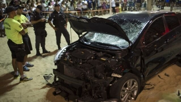 Latest: Baby killed as car hits crowd in Copacabana beach carnage