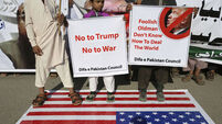 Protesters condemn Trump as Pakistan summons US envoy to protest over tweet