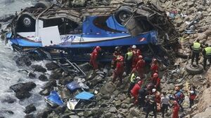At least 48 people killed in Peru 'Devil's Curve' bus crash