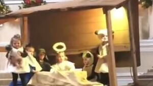 WATCH: Sheep robs baby Jesus from manger right under Mary's nose