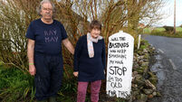 One billboard outside Abbeydorney: Meet the couple whose 'colourful' sign has got speeding drivers thinking