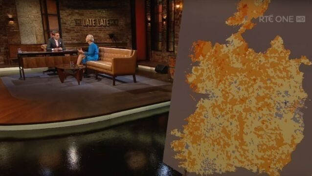 People are fuming over the Late Late Show's map of Ireland