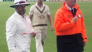 Cricket game suspended after 'crossbow bolt' fired into ground in UK