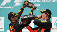 Max Verstappen wins in Malaysia as Lewis Hamilton extends lead