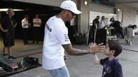 Lewis Hamilton second to Valtteri Bottas in first practice in Mexico